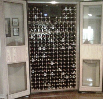 Big Red Wine Cabinet