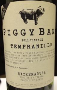 Piggy Bank Tempanillo 2011